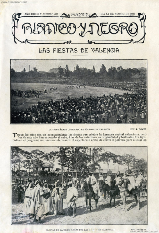 1903.08.01 Blanco Y Negro - Tribu Arabe en Valencia