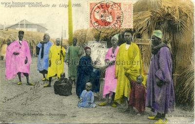 1905 Exposition de Liège - Village Sénégalais - Dessinateur V 2 bunt