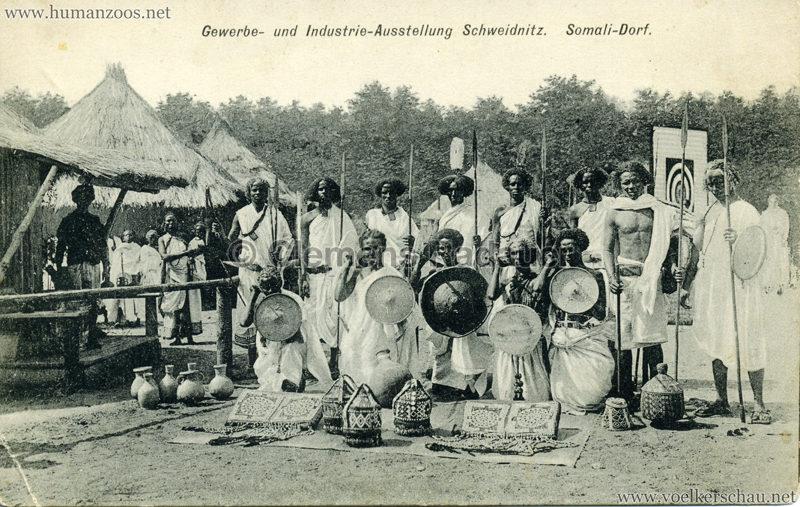 1911 Gewerbe- und Industrieausstellung Schweidnitz - Somali Dorf