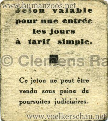 1931 Exposition Coloniale Internationale Paris - Jeton RS