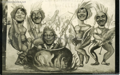 1935 Exposition de Bruxelles - Canibales FOTO