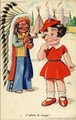 1935 Exposition de Bruxelles - J'adore le rouge