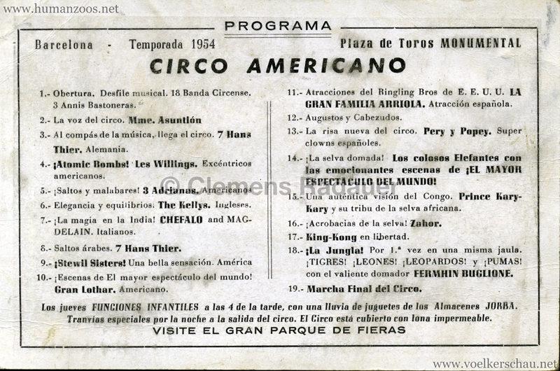 1954 Circo American - Kari-Kari RS