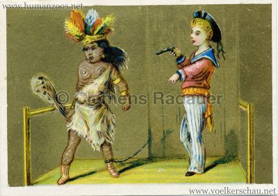 Kriegsbemalung Eingeborener Werbekarte (Perneau & Morihain) 2