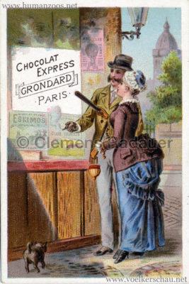 Werbekarte - Chocolat Express Grondard PAris - Eskimo Plakat