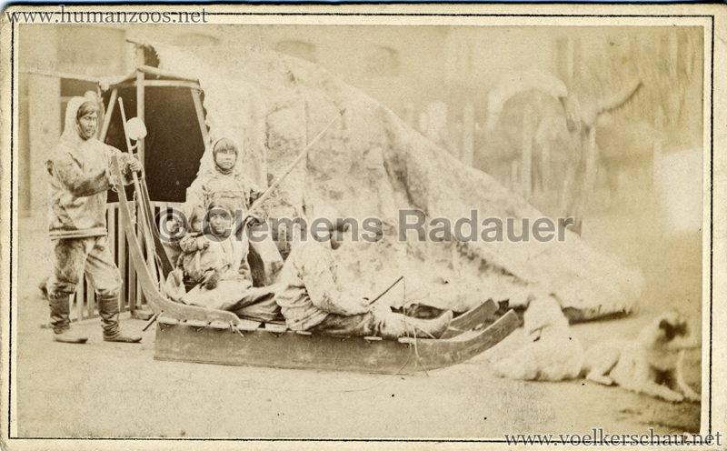 1877:1878 Hagenbeck Eskimo 4 - CDV - Adrian Jacobsen