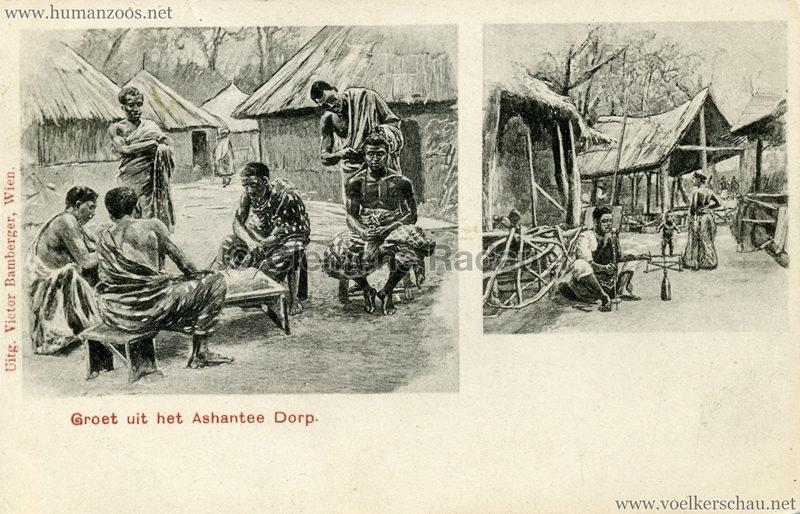 1896:1897:1898 Groet uit het Ashantee Dorp 4