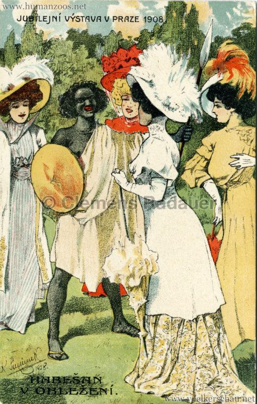 1908 Jubilejni vystava Praha. Habesska vesnice 11