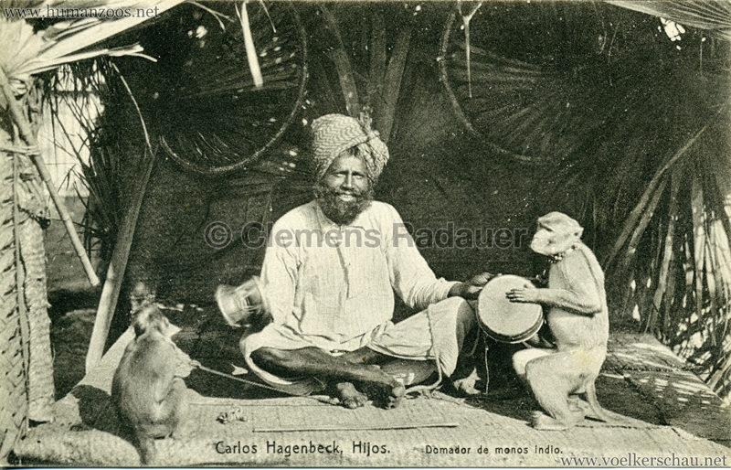 1910 (?) Carlos Hagenbeck Hijos - Domador de monos indio