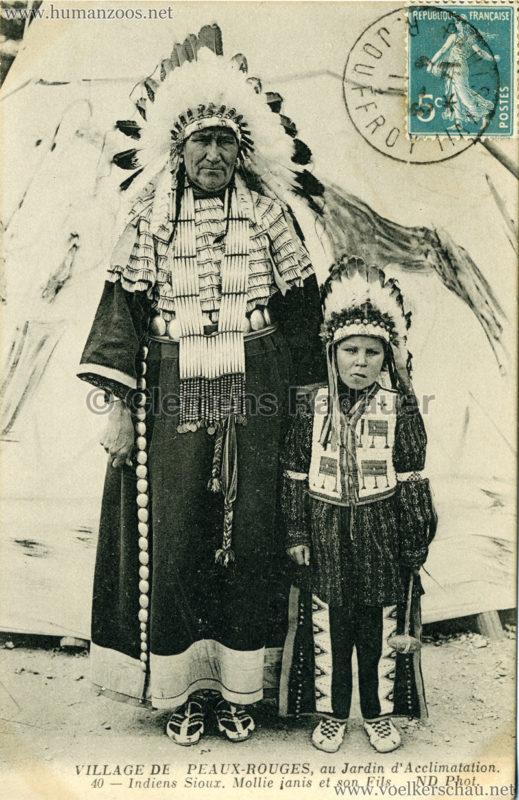 40 - Indiens Sioux, Mollie janis et son Fils