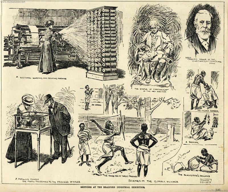 1904 Bradford Exhibition Somali Village 1