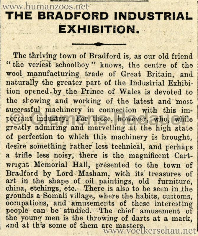 1904 Bradford Exhibition Somali Village 2