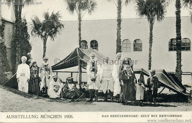 1908 Ausstellung München - Das Beduinendorf - 47. Zelt mit Bewohnern VS