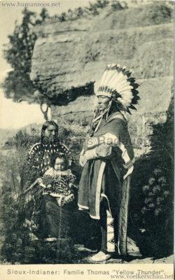 1910 Sioux - Indianer Familie Thomas Yellow Thunder