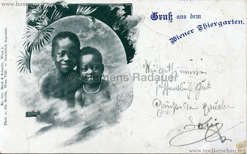 1898 Gruß aus dem Wiener Thiergarten 4 gel. 26.08.1898
