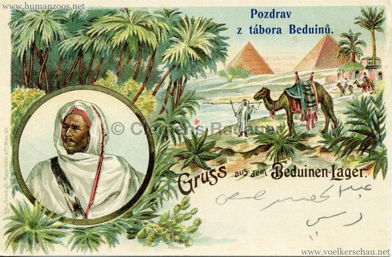 1900 Pozdrav z tabora Beduinu 1