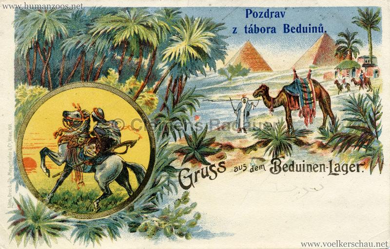 1900 Pozdrav z tabora Beduinu 2