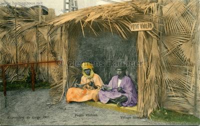 1905 Exposition de Liège - Village Sénégalais - Petits Violons bunt