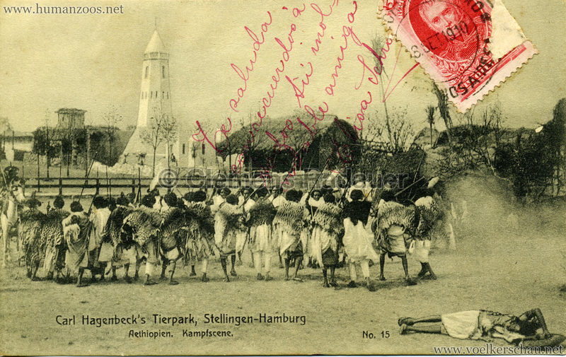 1909 Hagenbeck Aethiopien - 14. Scene aus dem Friedensschluss ARG