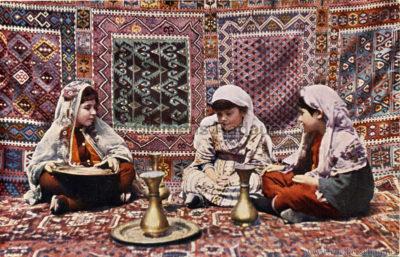 1910 Muhamedanische Ausstellung München - Muhamedanische Arbeiterinnen