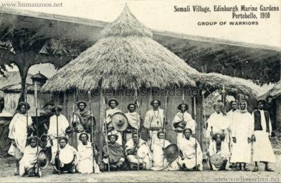 1910 Somali Village, Edinburgh Marine Gardens, Portobello - Group of warriors 4