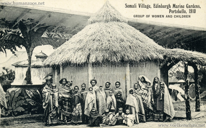 1910 Somali Village, Edinburgh Marine Gardens, Portobello - Group of women and children