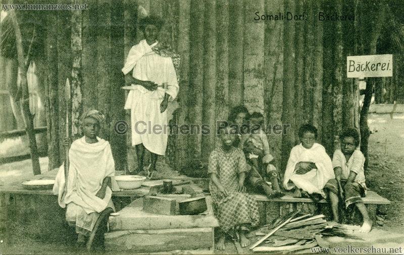 1912 Bayrische Gewerbeschau München - Somali Dorf - Nr. 112 Bäckerei