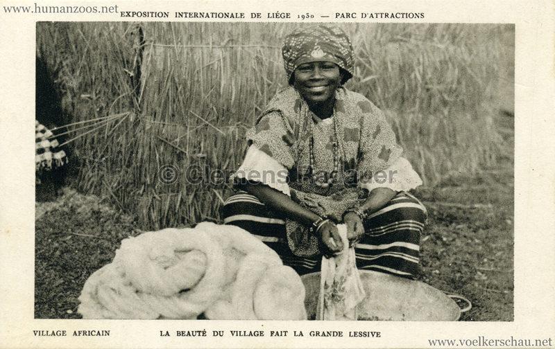 1930 Exposition Internationale de Liége - Village Africain - La beaute du village fait la grande lessive