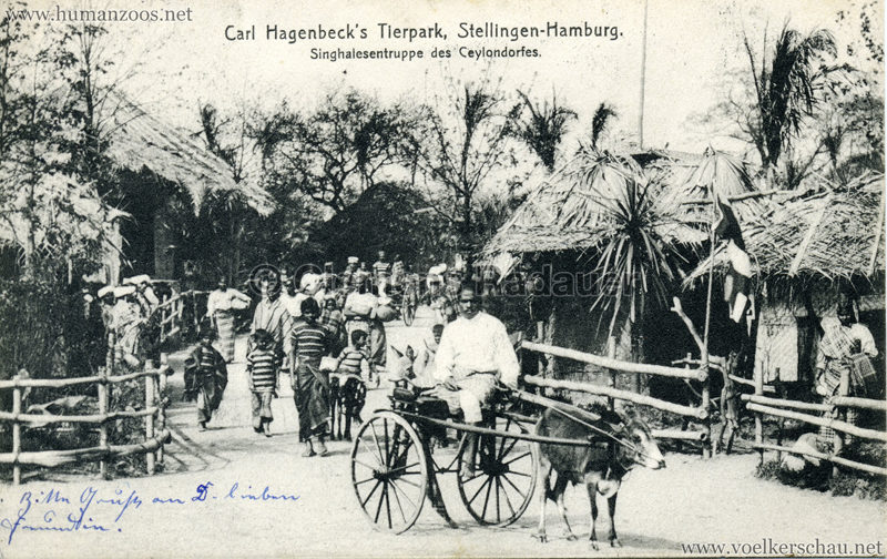 Singhalesentruppe des Ceylondorfes 187