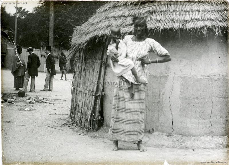 1896 L'Exposition Nationale Suisse Geneve - Village Noir GLASS 1