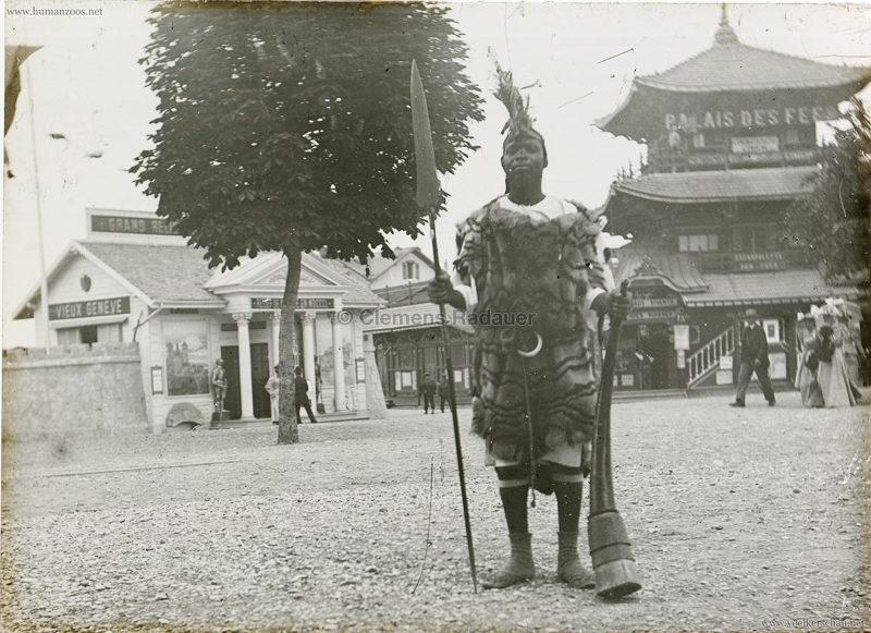 1896 L'Exposition Nationale Suisse Geneve - Village Noir GLASS 2