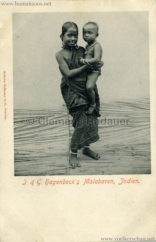 1900:1901 J. & G. Hagenbeck's Malabaren-Truppe - Mädchen und Kleinkind