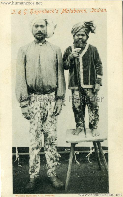 1900:1901 J. & G. Hagenbeck's Malabaren-Truppe - Mann und Kleinwüchsiger