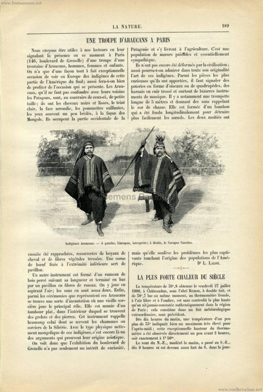 1900.09.18 La Nature - une troupe d'araucans a paris