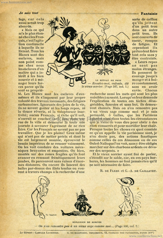 1908 Les Gallas - Jardin d'Acclimatation ARTIKEL 4