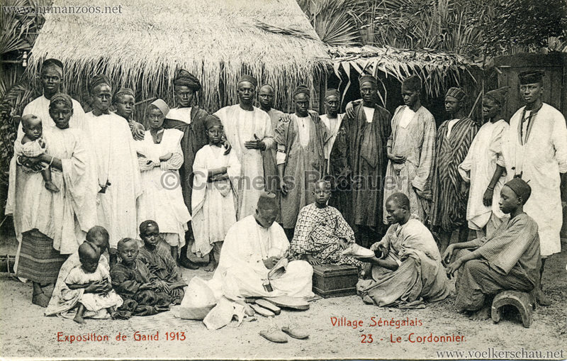 1913 Exposition de Gand - Village Sénégalais - 23. Le Cordonnier