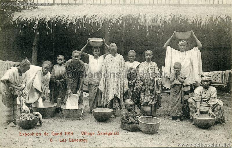 1913 Exposition de Gand - Village Sénégalais - 6. Les Laveuses