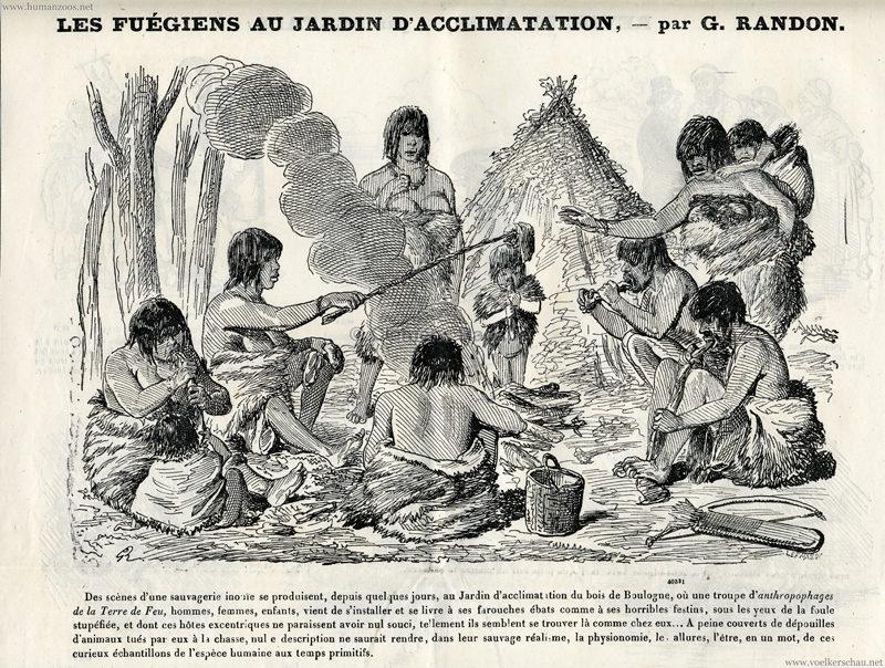 1881.09.25 Journal Amusant No 1808 - Les Fuegiens au Jardin d'Acclimatation