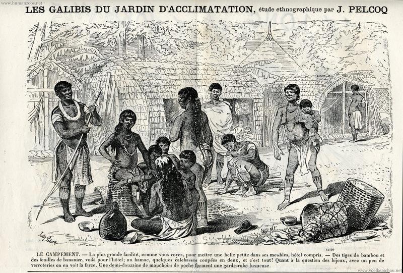 1882.08.12 Journal Amusant No 1354 - Les Galibis du Jardin d'Acclimatation 1