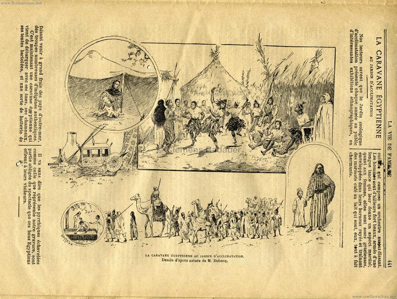 1891.09.06 La Vie de Famille - La Caravane Egyptienne au Jardin d'Acclimatation