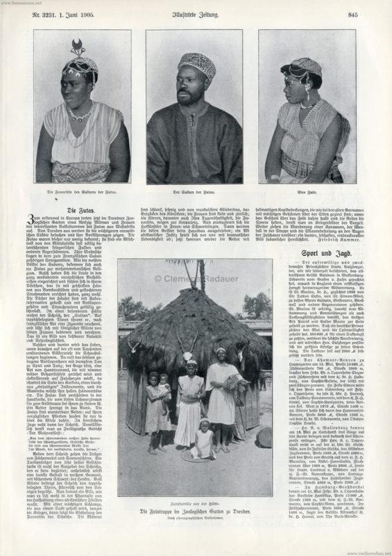 1905.06.01 Illustrirte Zeitung Nr. 3231 - Die Futatruppe im Zoologischen Garten Dresden 1