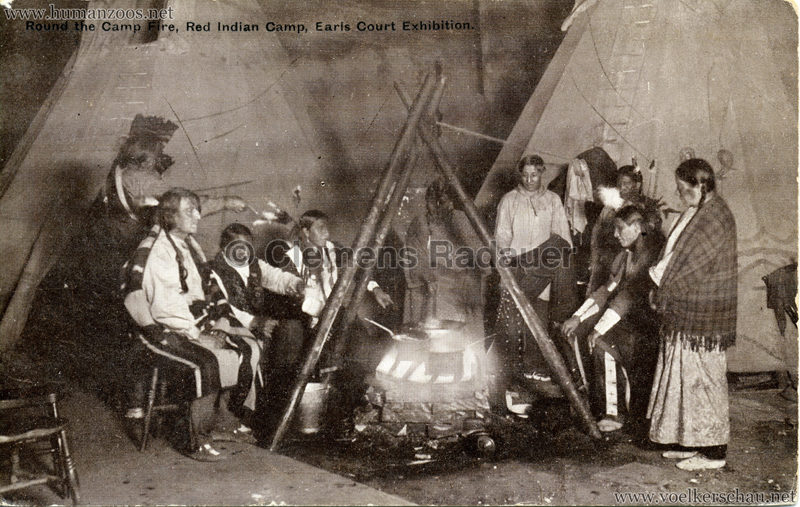 1909 Earl's Court Exhibition - Red Man Spectacle - Round the Camp Fire VS