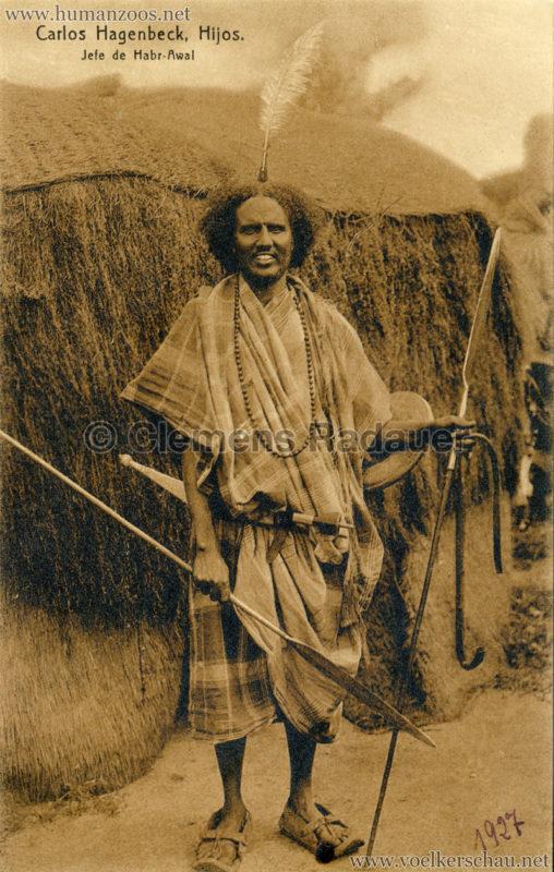 1910 (?) Carlos Hagenbeck Hijos - Jefe de Habr-Awal VS