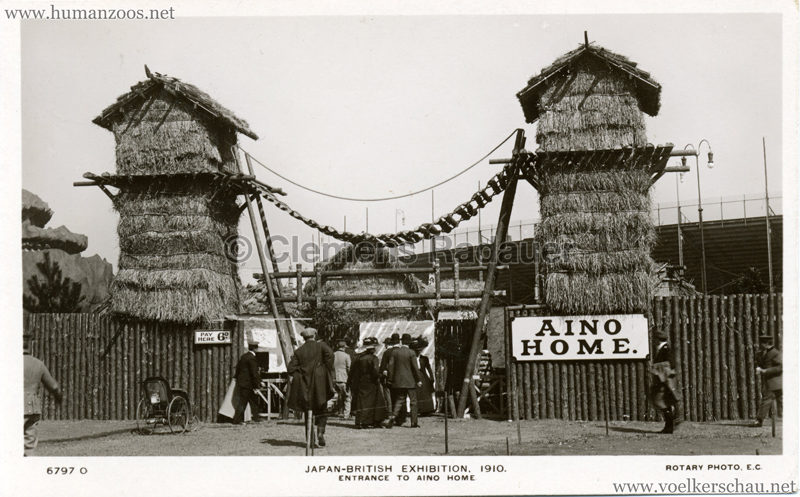 1910 Japan-British Exhibition - Entrance to Aino home