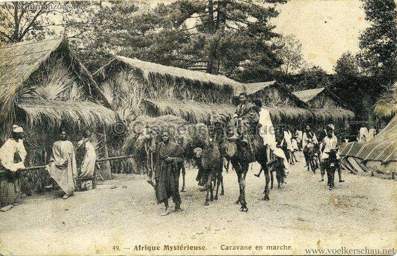 1910 L'Afrique Mystérieuse - Jardin d'Acclimatation - 49. Caravane en marche