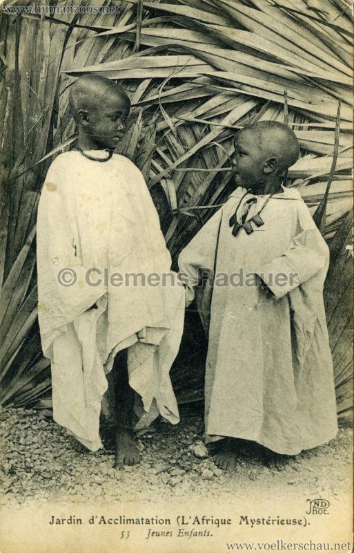 1910 L'Afrique Mystérieuse - Jardin d'Acclimatation - 53. Jeunes enfants
