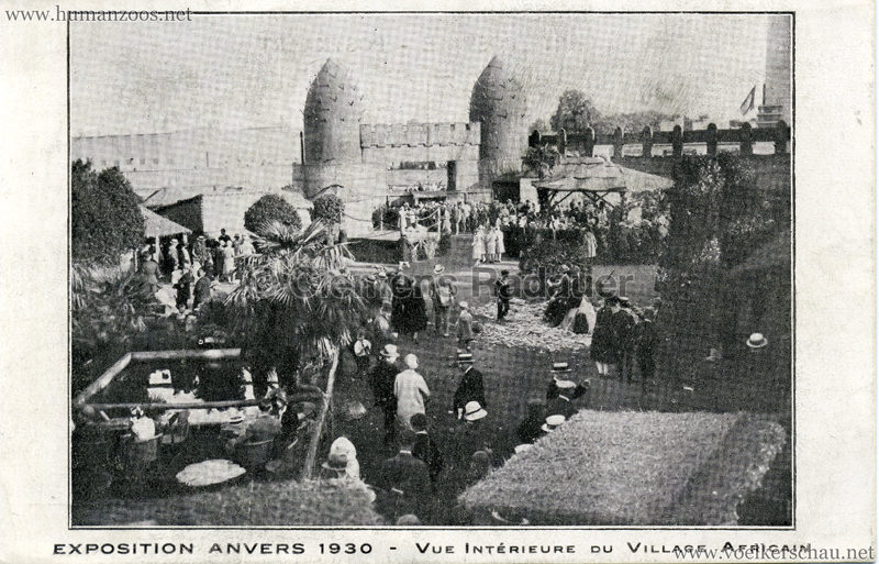 1930 Exposition d'Anvers - Village Africain - Vue Interieure