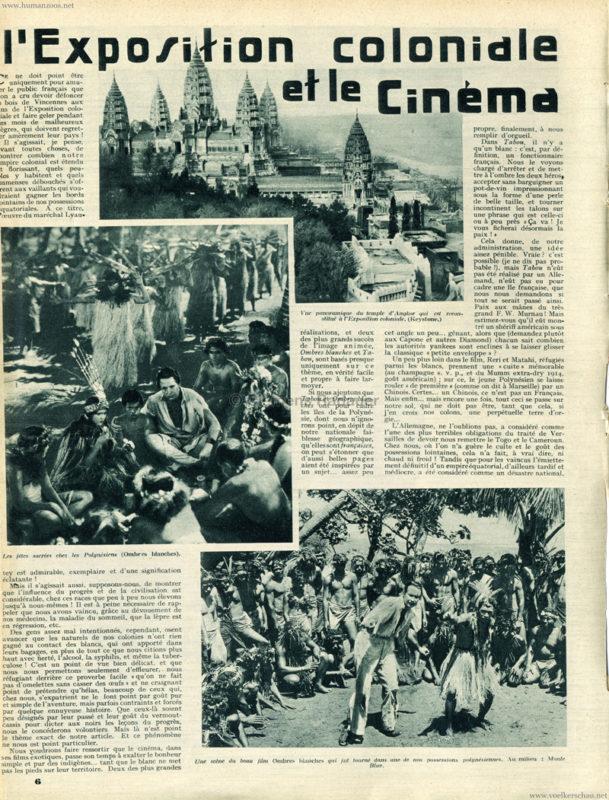 1931.07.16 Mon Cine No 491 - L'Exposition Coloniale et le Cinema 1
