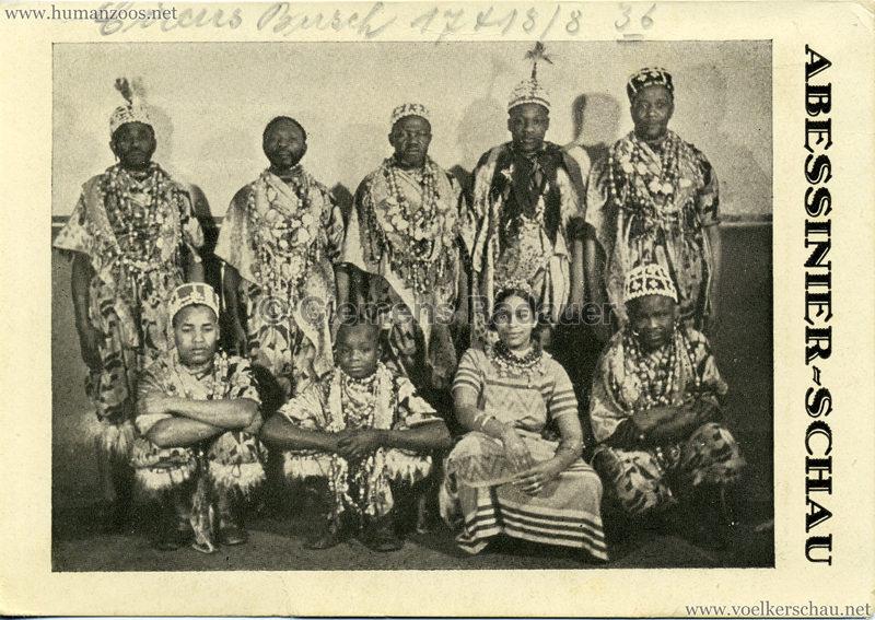 1936 Circus Busch Abessinier Schau