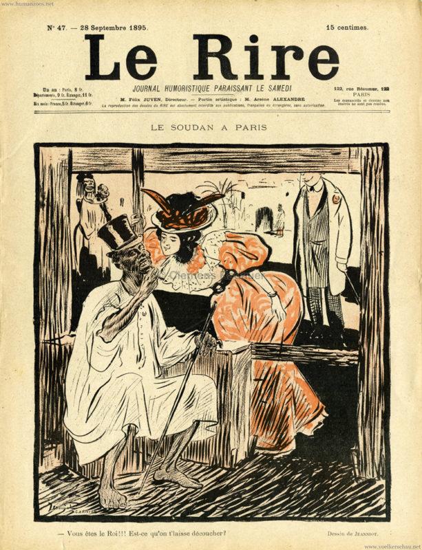 1895.09.28 Le Rire No 47 - Le Soudan a Paris